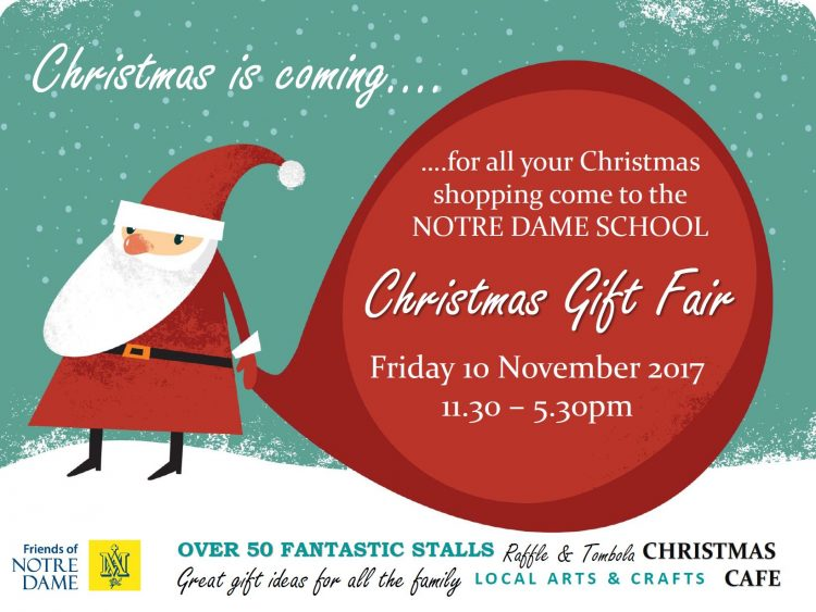 Notre Dame Christmas Gift Fair : 10th November | Really Helpful Club